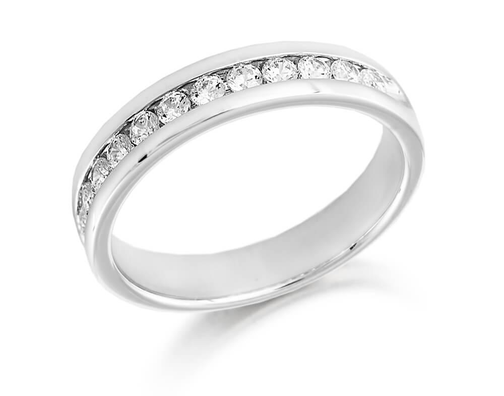f15cc3249d1 Ladies Platinum Round Diamond Channel Set Wedding Ring 0.25cts ...