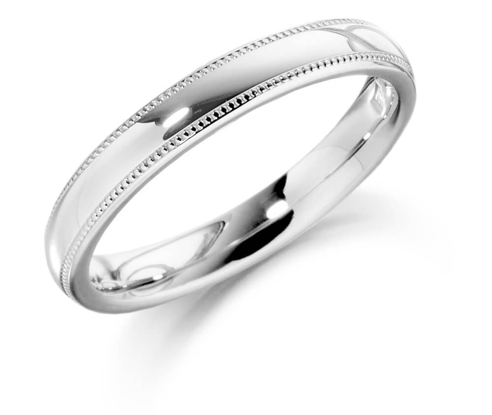 Ladies Patterned Wedding Ring 3mm Bercott Diamonds